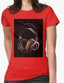 Luxurious Headphones Womens Fitted T-Shirt