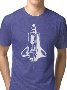 Splatter Space Shuttle (white) Tri-blend T-Shirt