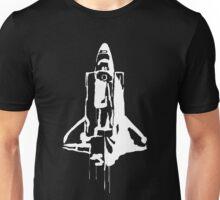 Splatter Space Shuttle (white) Unisex T-Shirt