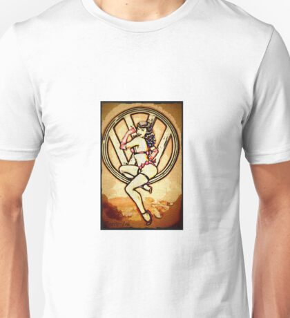 Split screen pin up girl Unisex T-Shirt