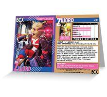 BCX TRADING CARD NO 3 BOTH FACES Greeting Card