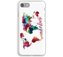 Watercolor Wanderlust World Map  iPhone Case/Skin