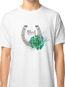 Horseshoes in silver color with succulent design. Classic T-Shirt