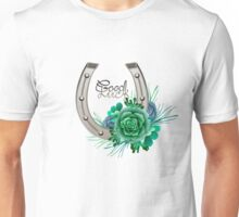 Horseshoes in silver color with succulent design. Unisex T-Shirt
