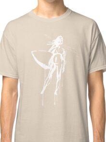 Splatter Surfer Girl (white) Classic T-Shirt