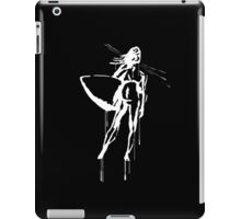 Splatter Surfer Girl (white) iPad Case/Skin