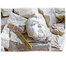 L'Aquila: rubble and brush Poster