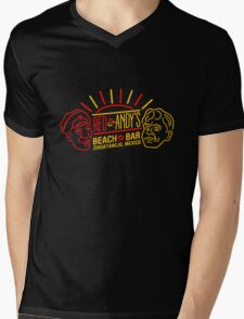 Red and Andy's Beach Bar, Zihuatanejo Mens V-Neck T-Shirt