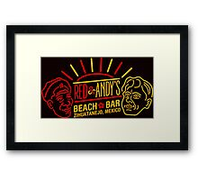 Red and Andy's Beach Bar, Zihuatanejo Framed Print