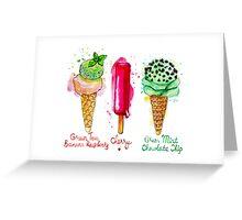 Ice cream flavors Greeting Card