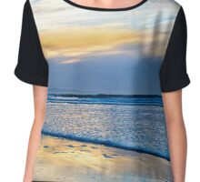 blue reflections and calm waves Chiffon Top