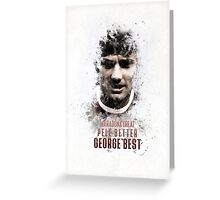 George Best - Manchester United Legend Greeting Card