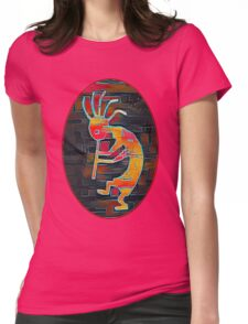 Kokopelli - Southwest Native American Icon Womens Fitted T-Shirt