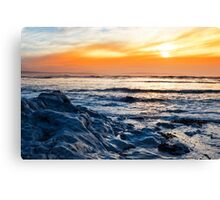 blue rocks at rocky beal beach Canvas Print