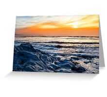 blue rocks at rocky beal beach Greeting Card