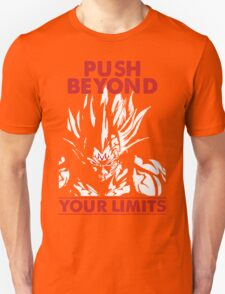 Vegeta Songoku PUSH BEYOND YOUR LIMITS Hot T-shirt T-Shirt