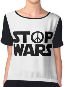 Stop Wars Chiffon Top