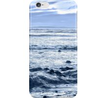 blue toned rocky beal beach iPhone Case/Skin
