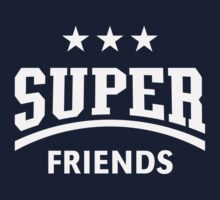 Super Friends (White) Kids Tee