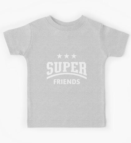 Super Friends (White) Kids Tee