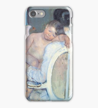 Mary Cassatt - Woman Sitting with a Child in Her Arms -1890 iPhone Case/Skin