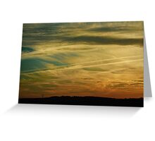 tiger striped sky Greeting Card