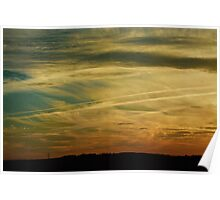 tiger striped sky Poster