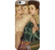 Mary Cassatt - The Caress 1902 , American Impressionism  iPhone Case/Skin