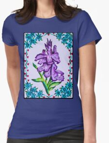 Hearts and flowers Womens Fitted T-Shirt