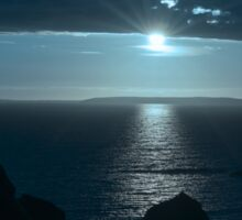blue toned wild atlantic way sunset Sticker