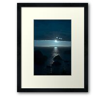 blue toned wild atlantic way sunset Framed Print