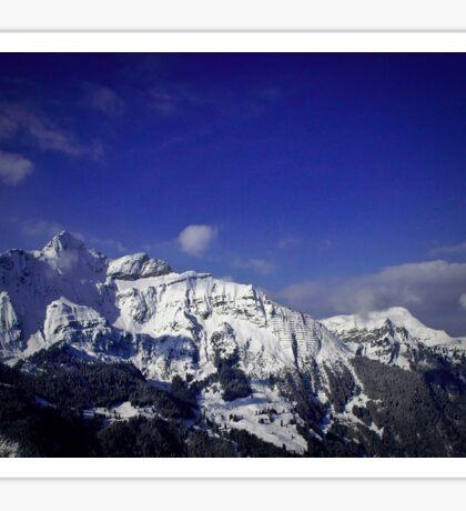 Shilthorn Winter Scene Sticker