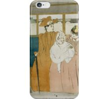 Mary Cassatt - In the Omnibus 1890, Woman Sitting with a Child , American Impressionism  iPhone Case/Skin