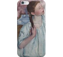 Mary Cassatt - Girl Arranging Her Hair 1886 American Impressionism  iPhone Case/Skin