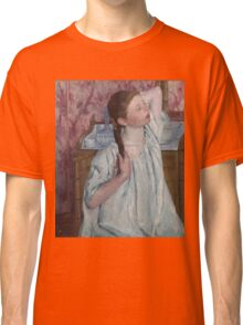 Mary Cassatt - Girl Arranging Her Hair 1886 American Impressionism  Classic T-Shirt