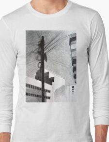 Wireless, 2011, 50-70cm, graphite crayon Long Sleeve T-Shirt