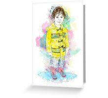 New Raincoat Greeting Card