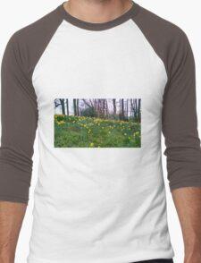 Daffodils Rising Men's Baseball ¾ T-Shirt