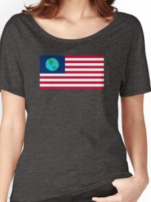 Futurama Earthican Flag Women's Relaxed Fit T-Shirt