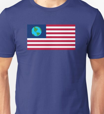 Futurama Earthican Flag Unisex T-Shirt