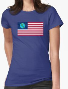 Futurama Earthican Flag Womens Fitted T-Shirt