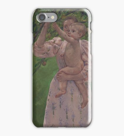 Mary Cassatt - Child Picking a Fruit 1893 , American Impressionism  iPhone Case/Skin