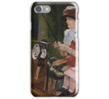 Mary Cassatt - A Woman and a Girl Driving 1881, American Impressionism  iPhone Case/Skin