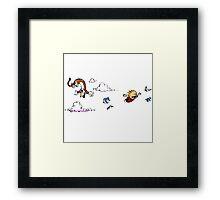 Calvin And Hobbes Fly Framed Print