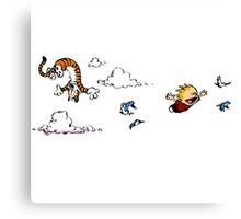 Calvin And Hobbes Fly Canvas Print