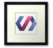 HiRes Polymer sticker Framed Print