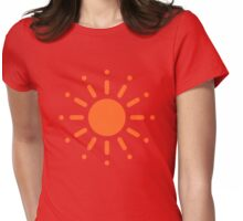 Sun / Soleil / Sol / Sonne / Sole / Zon (Orange) Womens Fitted T-Shirt