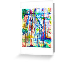 ABSTRACT and NON OBJECTIVE Greeting Card