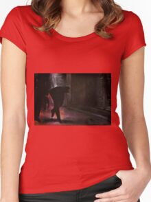 Walking on air, 2014, 120-80cm, oil on canvas Women's Fitted Scoop T-Shirt