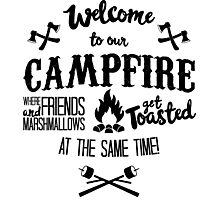 Marshmallows Campfire Humor Photographic Print